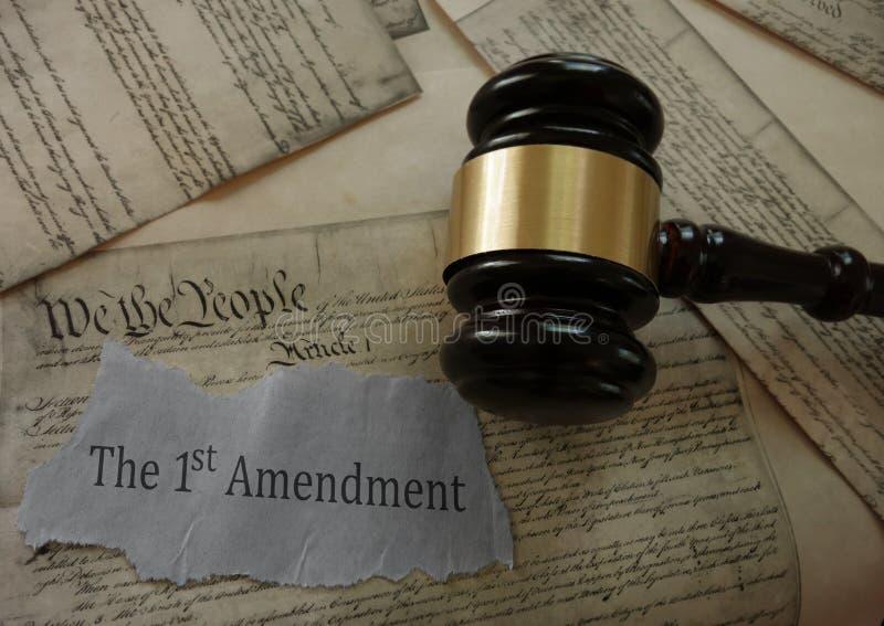 Direitos da constituição da Primeira Emenda fotografia de stock royalty free