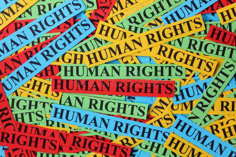 Direitos humanos fotografia de stock