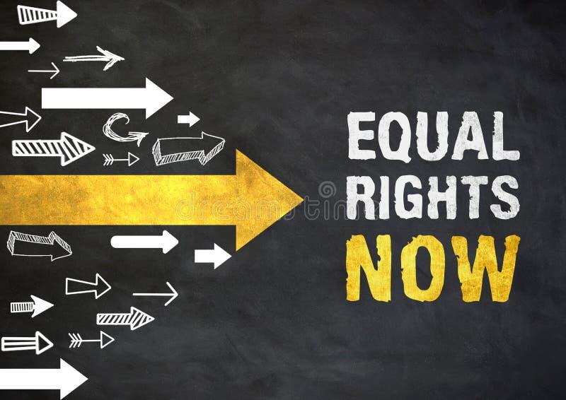 Direitos iguais agora ilustração stock