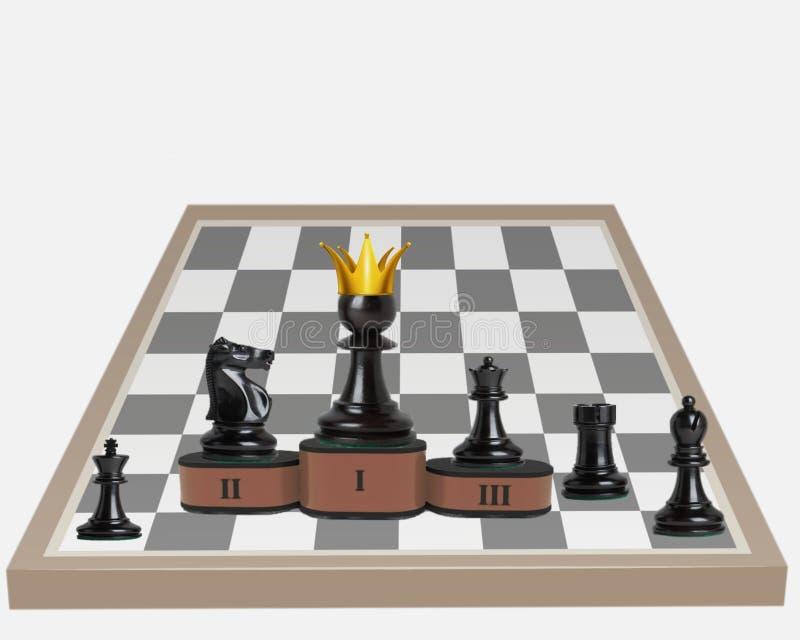 Direitos iguais na competição Um penhor tem o rei tornado fotografia de stock