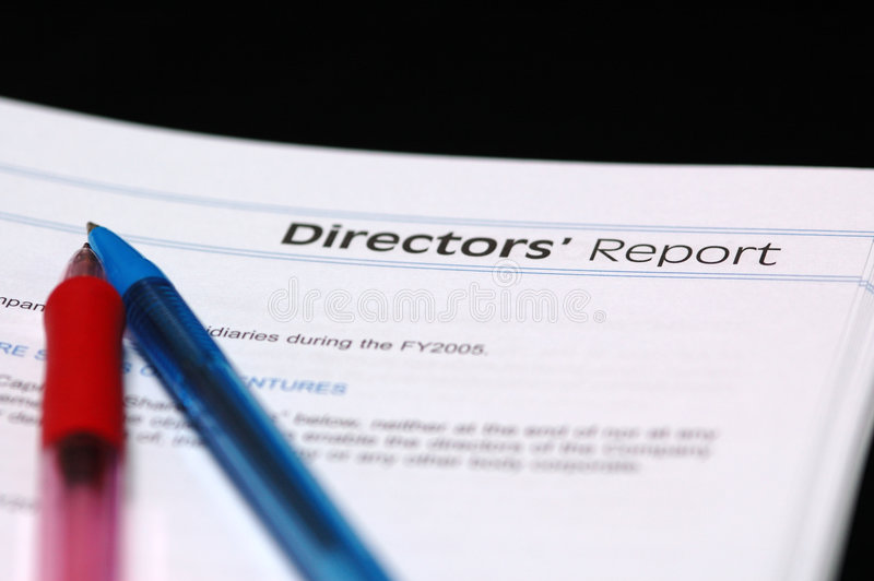 direktörrapport s arkivbilder