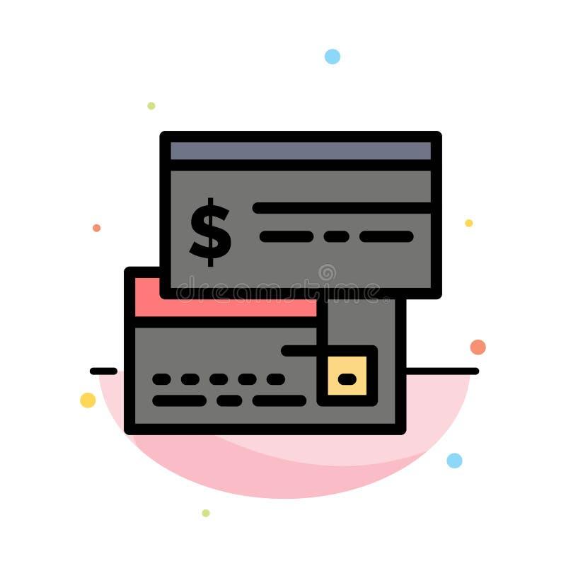 Direkt betalning, kort, kreditering, debitering, direkt abstrakt plan färgsymbolsmall vektor illustrationer