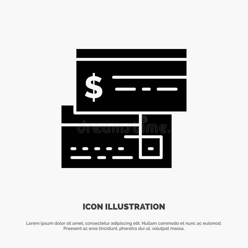 Direkt betalning, kort, kreditering, debitering, direkt fast skårasymbolsvektor vektor illustrationer