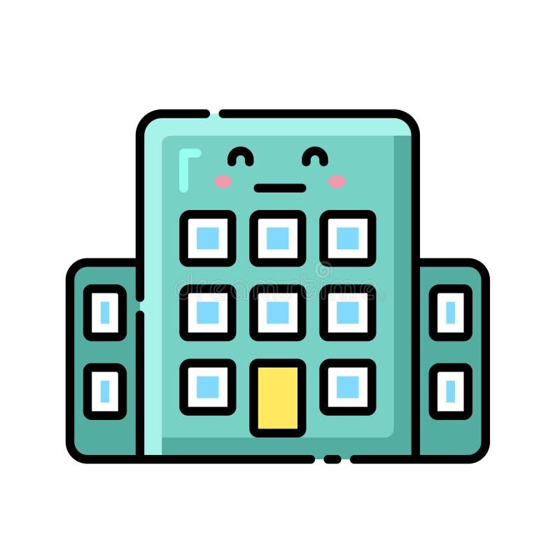 Direkt färgsymbol för arbetsplats stock illustrationer