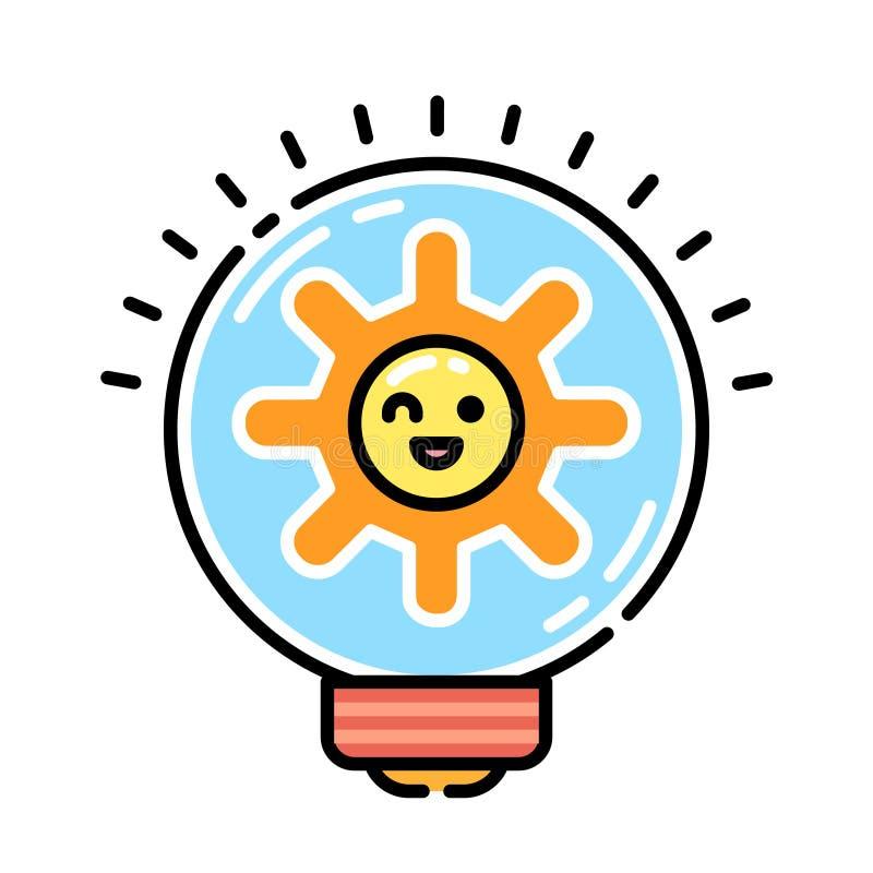 Direkt färgsymbol för innovation royaltyfri illustrationer