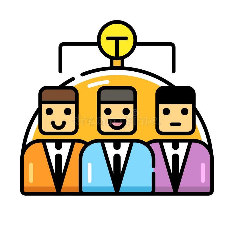 Direkt färgsymbol för kläckning av ideer stock illustrationer