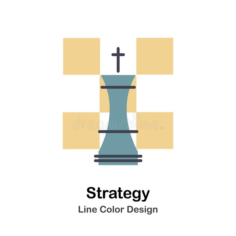 Direkt färgsymbol för strategi vektor illustrationer