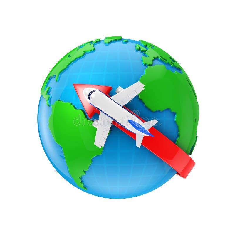 Direkt flyg vektor illustrationer