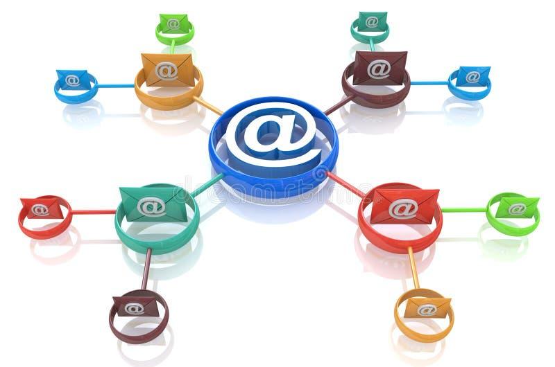 Direkt marknadsföring för mejl svart telefon för kommunikationsbegreppsmottagare royaltyfri illustrationer