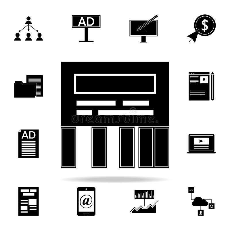 direkt meddelandesymbol Universell uppsättning för Digital marknadsföringssymboler för rengöringsduk och mobil stock illustrationer