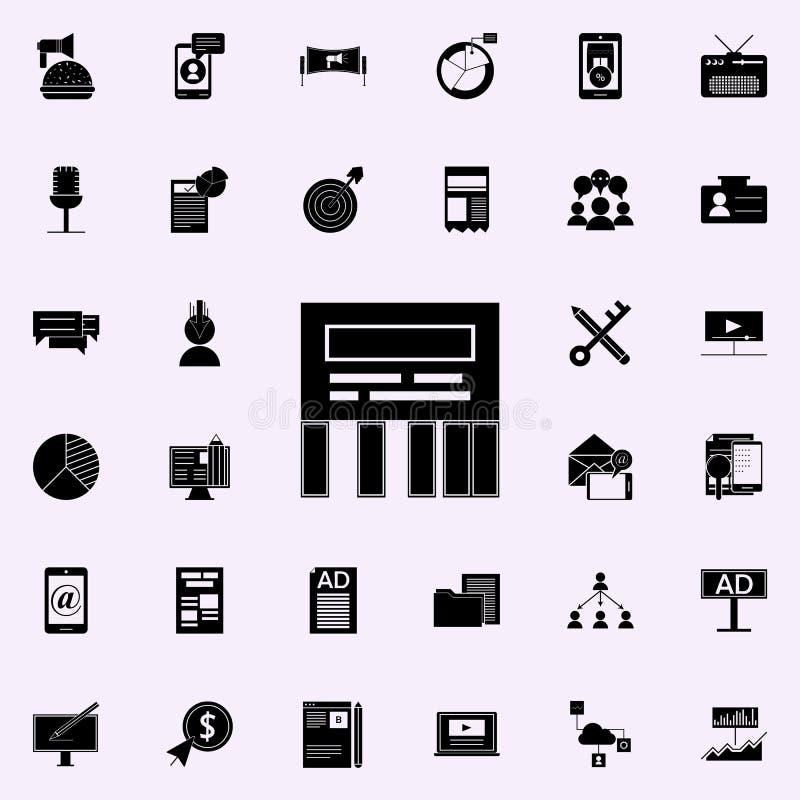 direkt meddelandesymbol Universell uppsättning för Digital marknadsföringssymboler för rengöringsduk och mobil vektor illustrationer