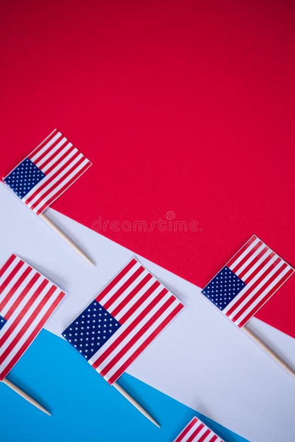 Direkt ovannämnt skott av amerikanska flaggan royaltyfria foton