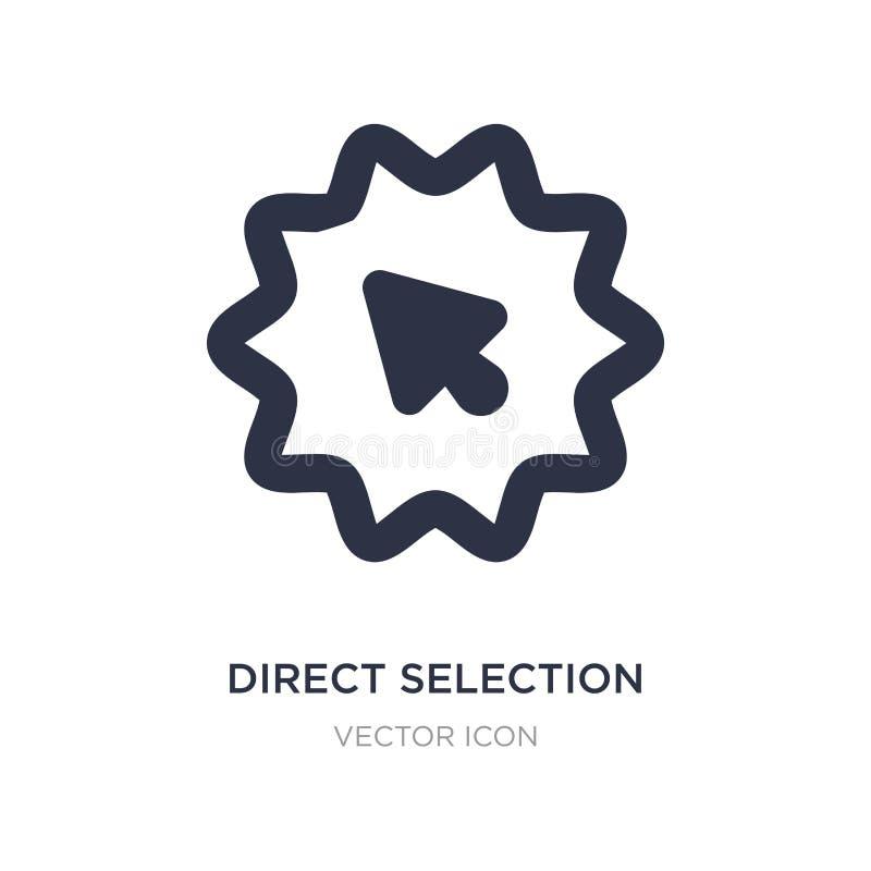 direkt valsymbol på vit bakgrund Enkel beståndsdelillustration från UI-begrepp stock illustrationer