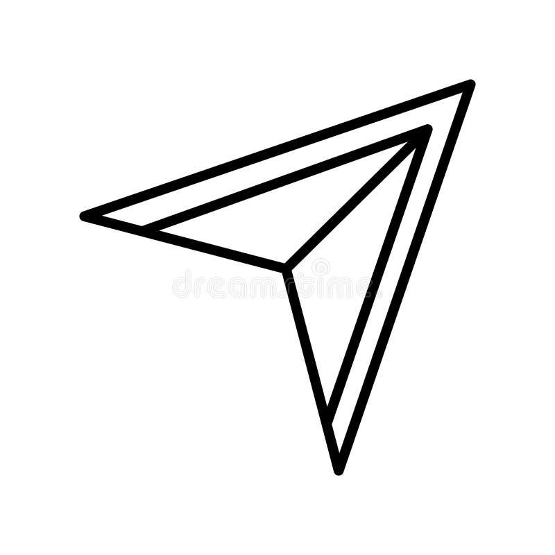 Direkt valsymbolsvektor som isoleras på vit bakgrund, Direc stock illustrationer