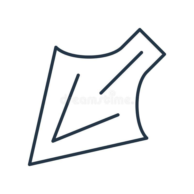 Direkt valsymbolsvektor som isoleras på vit bakgrund, direkt valtecken vektor illustrationer