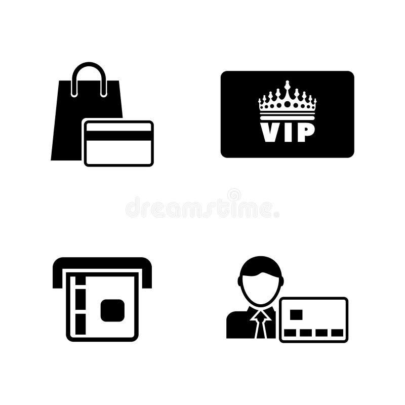 Direkta betalningar Enkla släkta vektorsymboler royaltyfri illustrationer