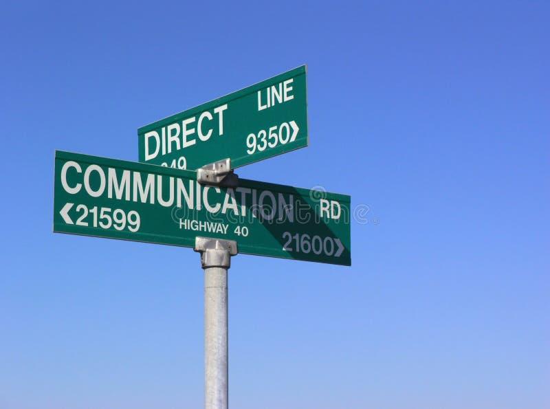 Direkte Kommunikation stockbild