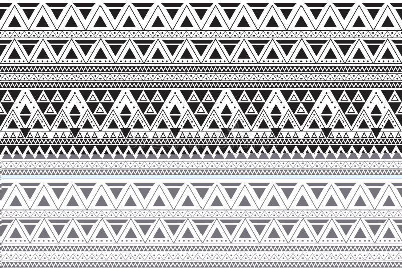 Direktes Muster der Stammes- Kunst Ethnischer geometrischer Druck stockfoto
