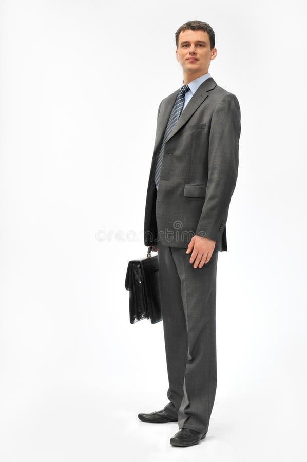 Direktor mit dem Aktenkoffer stockfotografie