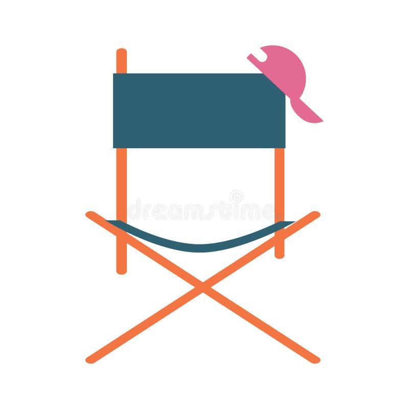 Direktornfilm-Stuhlikone lizenzfreie abbildung