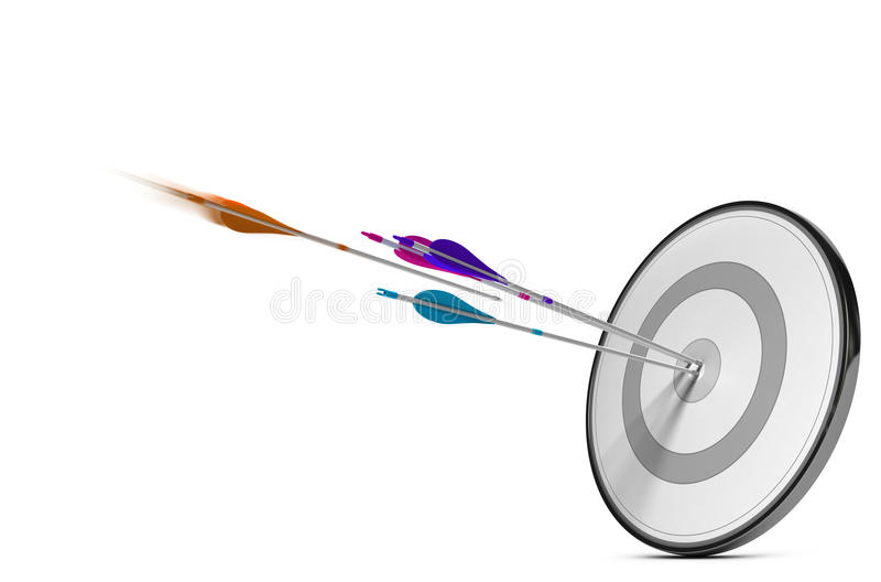 Direktvertriebsbranche Ziel und Pfeile stock abbildung