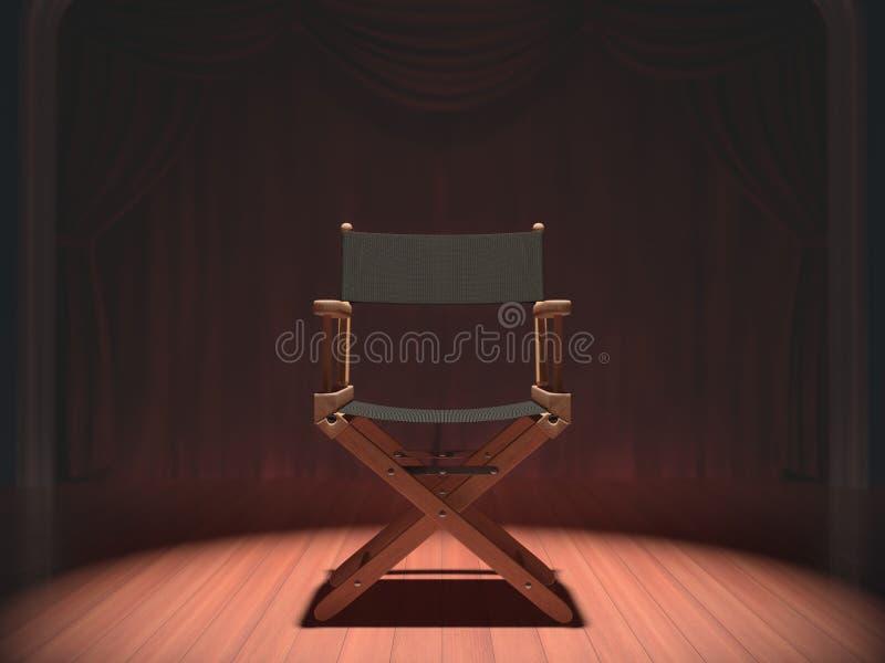 Diretor Cadeira ilustração stock