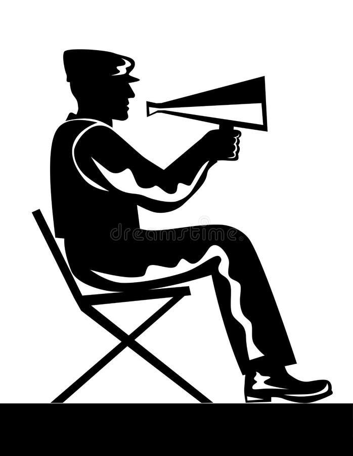 Diretor com megafone ilustração do vetor