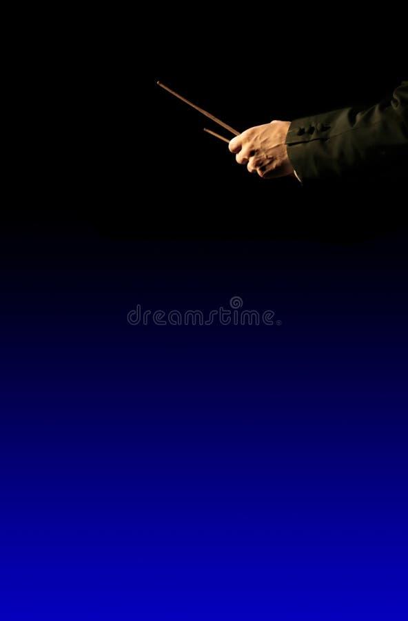 Diretor da orquestra da música imagens de stock