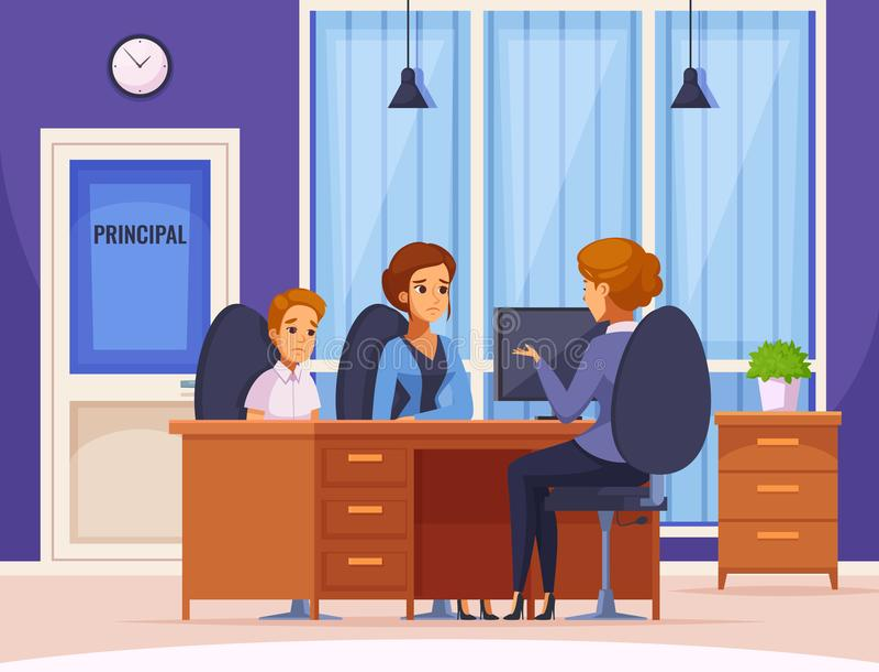Diretor de escola Audience Composition ilustração do vetor
