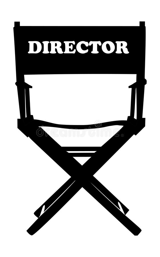 Diretor de filmes da cadeira ilustração do vetor