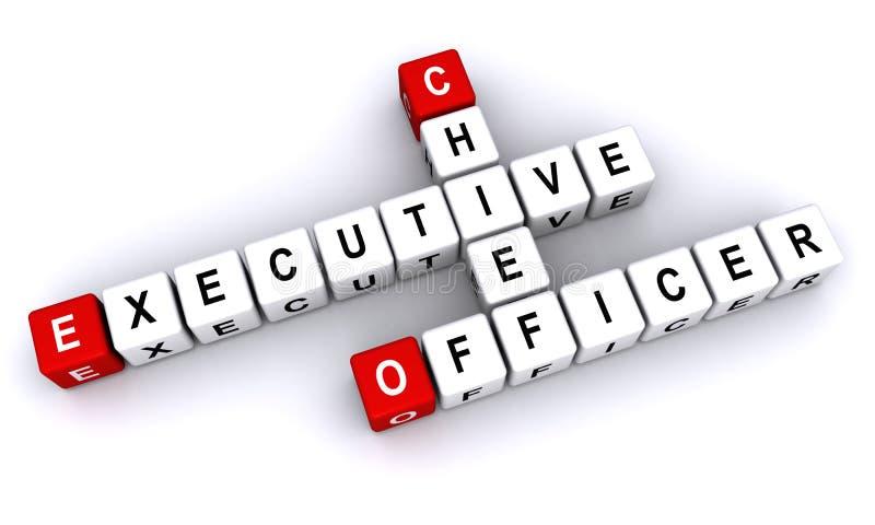 Diretor-executivo Officer ilustração stock