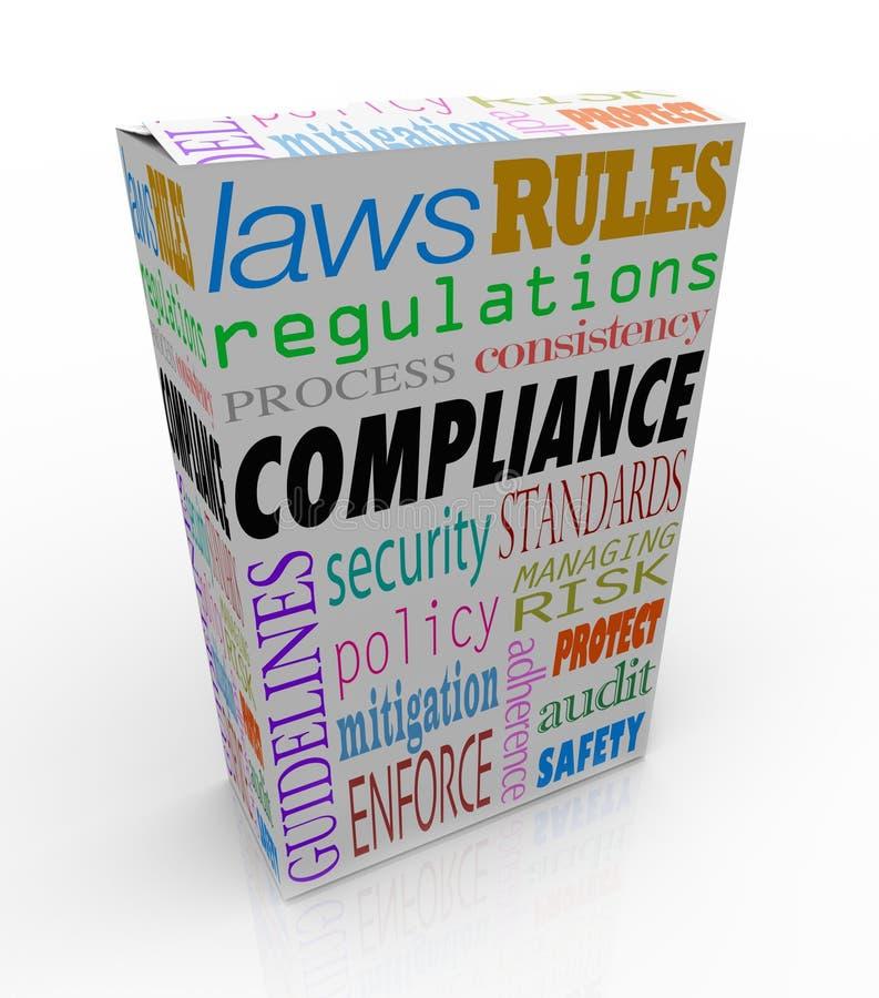 Diretriz de conformação das leis do pacote de serviço do produto da palavra da conformidade ilustração do vetor