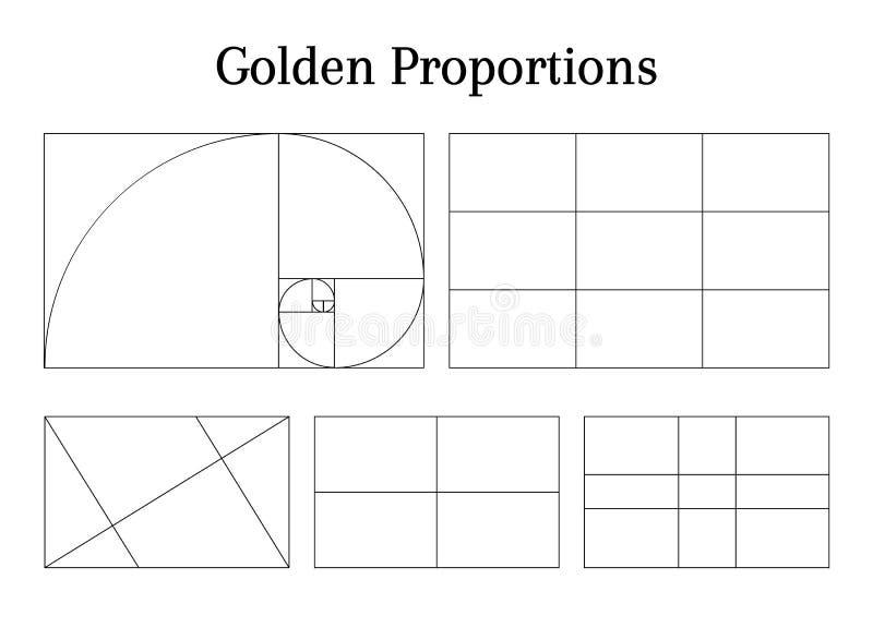 Diretrizes da proporção da composição ilustração do vetor