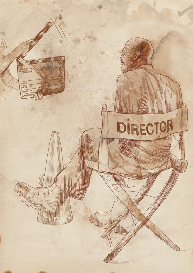 Direttore illustrazione vettoriale