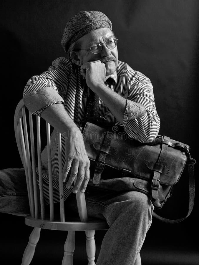 Direttore di film creativo dell'uomo adulto fotografia stock