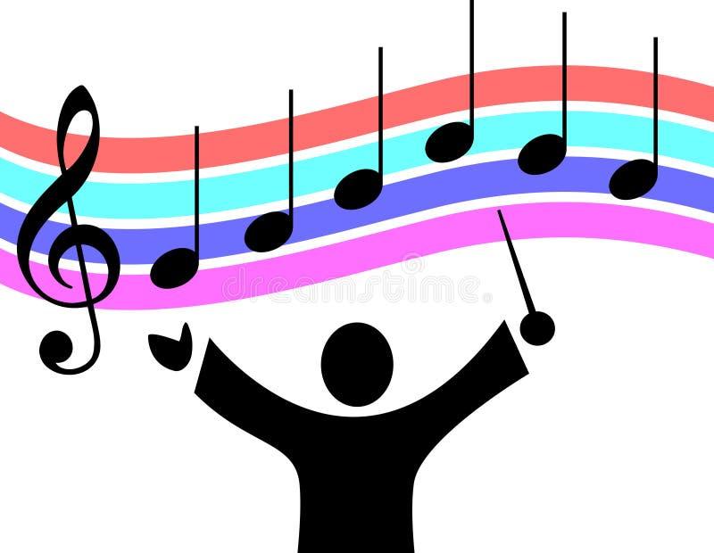 Direttore musicale illustrazione vettoriale