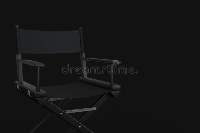 Direttore nero Chair del cinema rappresentazione 3d immagine stock libera da diritti