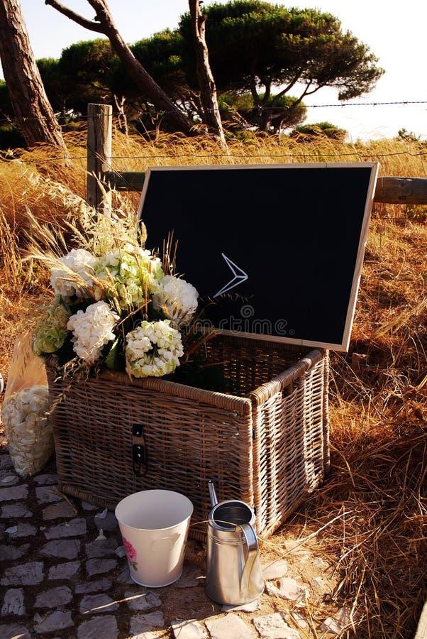 Direzione - insieme romantico rustico di estate, segno nero del bordo immagini stock