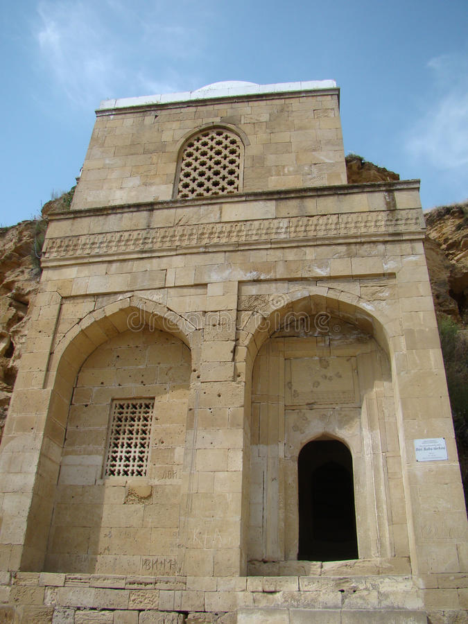 Diri Baba Mausoleum, Azerbaijan, Maraza. stock image