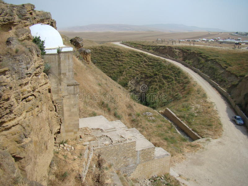Diri Baba Mausoleum, Azerbajdzjan, Maraza royaltyfri fotografi
