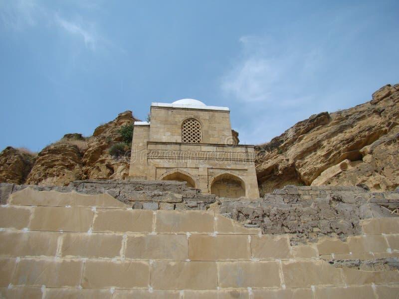 Diri Baba Mausoleum, Azerbajdzjan, Maraza royaltyfria bilder