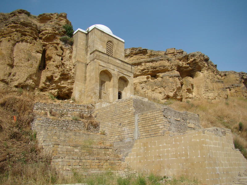 Diri Baba Mausoleum, Azerbajdzjan, Maraza royaltyfria foton