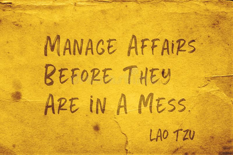 Diriga gli affari Lao Tzu fotografia stock
