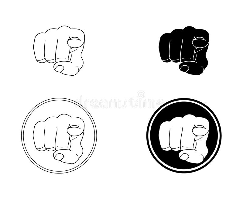 Dirigeant des doigts réglés illustration de vecteur