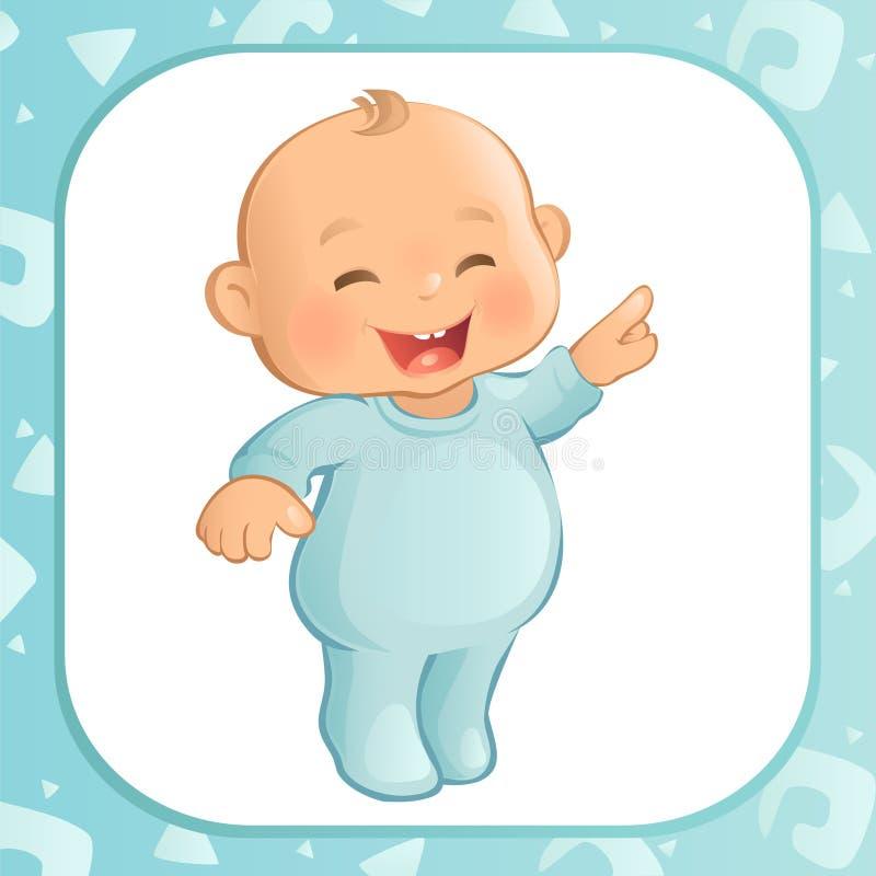 Dirigeant le bébé garçon (vecteur) illustration stock