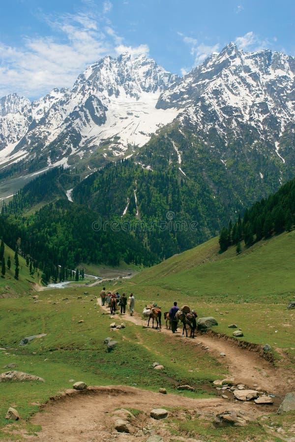 Dirigendosi verso l'Himalaya fotografia stock libera da diritti