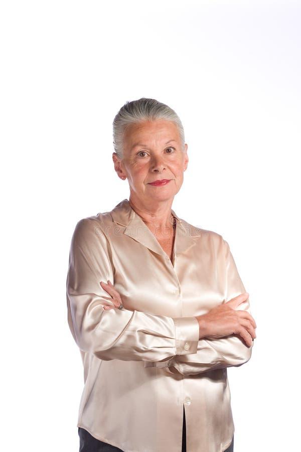 Dirigente femminile senior fotografia stock
