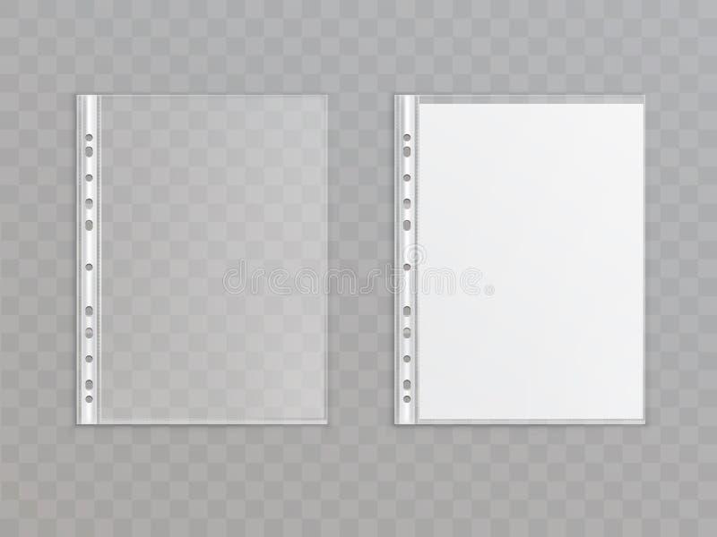 Dirigez 3d la poche perforée réaliste, portefeuille en plastique illustration libre de droits