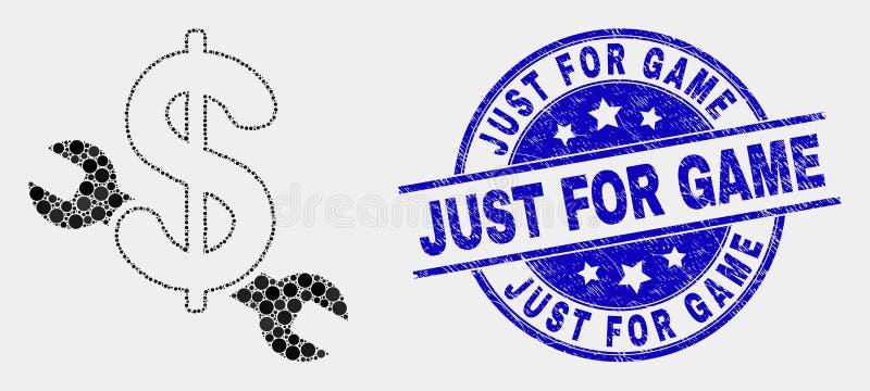 Dirigez Dot Repair Price Icon et l'affligez juste pour le timbre de jeu illustration de vecteur