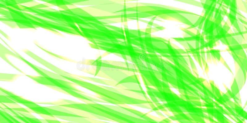 Dirigez en rougeoyant doucement le fond vert des fils et du flo de fines herbes illustration stock